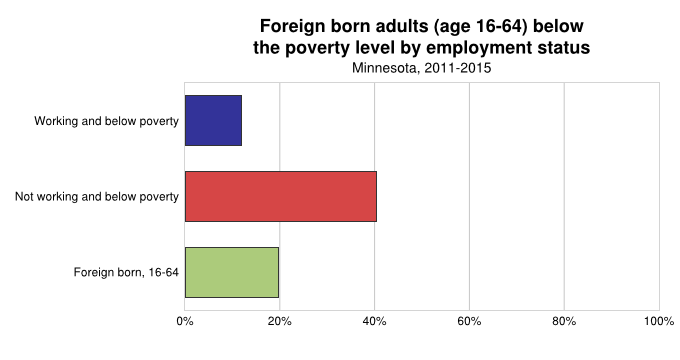 Foreign Born Adults Below Poverrty